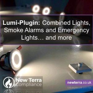 Lumi-Plugin combined downlight fire detectors